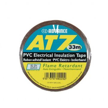 PVC Tape, 19mm - Brown